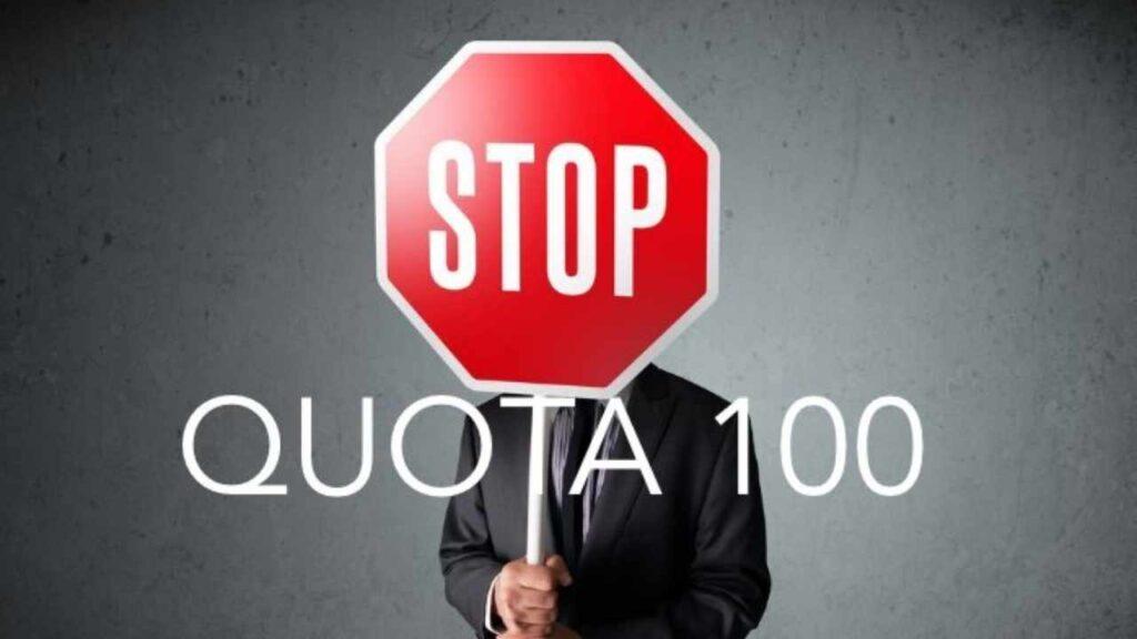 stop quota 100 assigaeta news